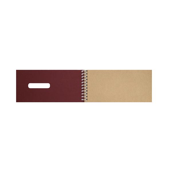 Bloc spirale 50 feuilles papier kraft 80g 99 x 210 mm