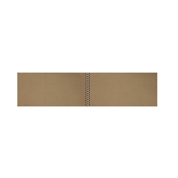 Bloc spirale 50 feuilles papier kraft 80g 140 x 297 mm
