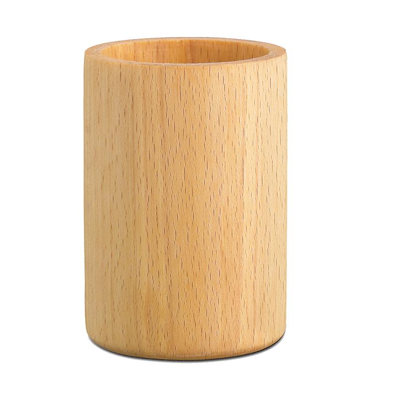 Pot à crayons en bois
