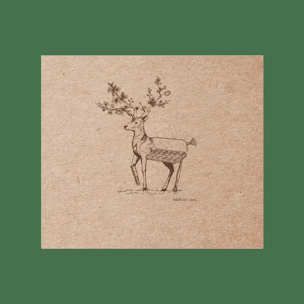 Carnet cousu 60 feuilles papier ivoire uni 90g 155 x 155 mm