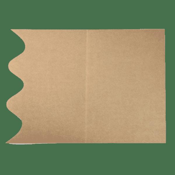 Chemise en carton ondulé ouverte