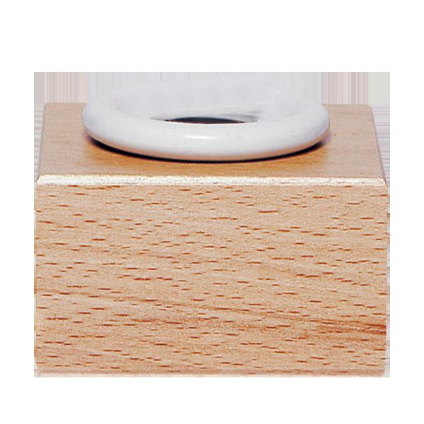 Enrier de bureau bois & porcelaine