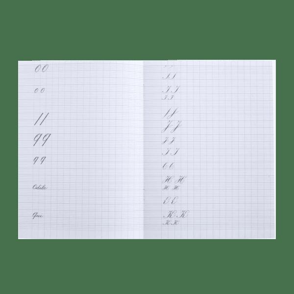 Cahier d'exercices de calligraphie