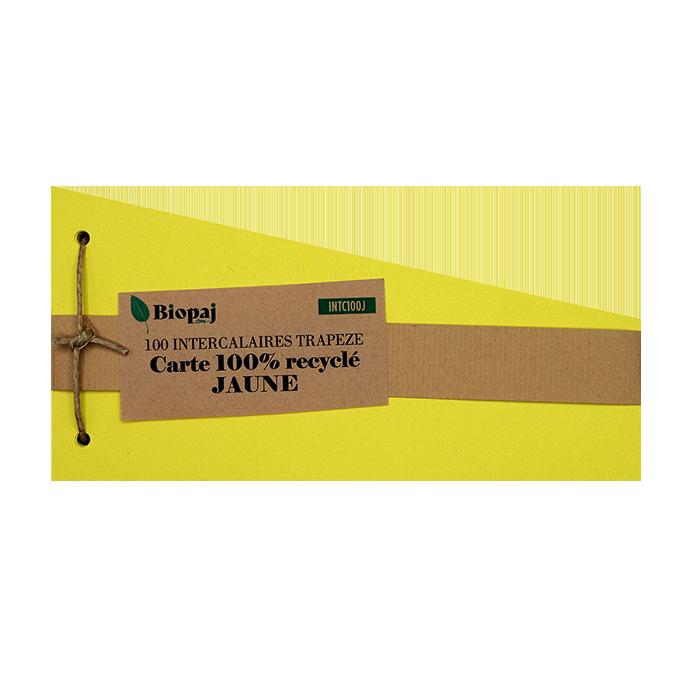 Intercalaires jaune - papier recyclés