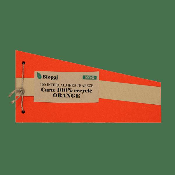 Intercalaires orange - papier recyclés