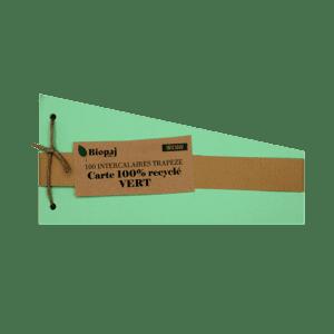 Intercalaires vert - papier recyclés