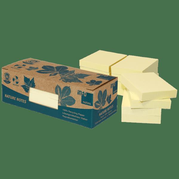 Boîte 12 blocs repositionnables (type POST-IT) 100 feuilles 50 x 40 mm