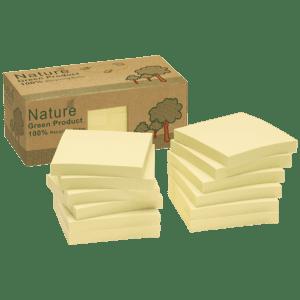 Boîte 12 blocs repositionnables (type POST-IT) 100 feuilles 75 x 75 mm