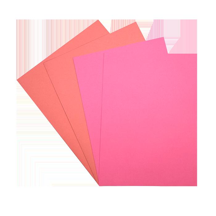 Combiné de 25 chemises + 50 sous-chemises roses