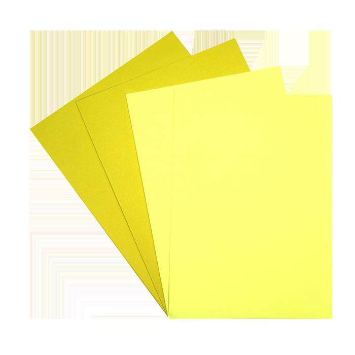 Combiné de 25 chemises + 50 sous-chemises jaunes