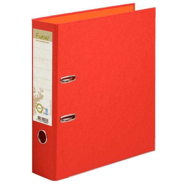 Classeur à levier coloris rouge, dos de 80mm