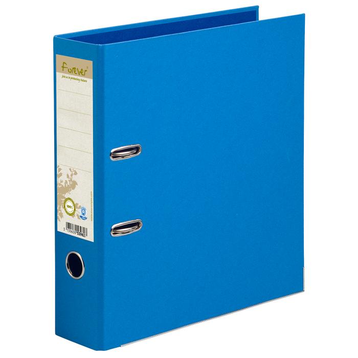 Classeur à levier coloris bleu, dos de 80mm