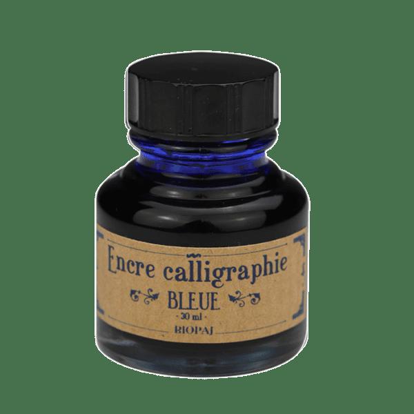Encre bleue calligraphie