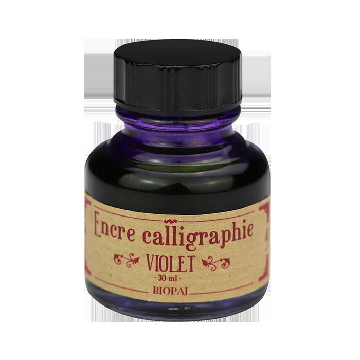 Encre violette calligraphie