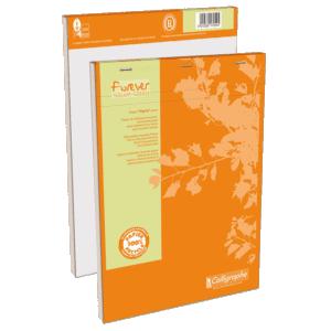 Bloc-notes agrafé en tête 200 pages papier quadrillé 80g 210 x 297 mm