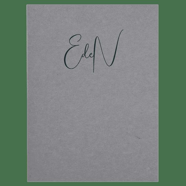 Carnet 120 x 160 mm 100 pages papier ombre (gris)