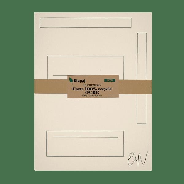 Paquet 10 chemises 240 x 320 mm carte ocre (ivoire)