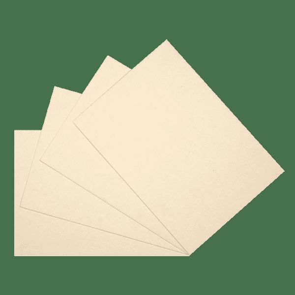 Carte 350g - couleur ocre