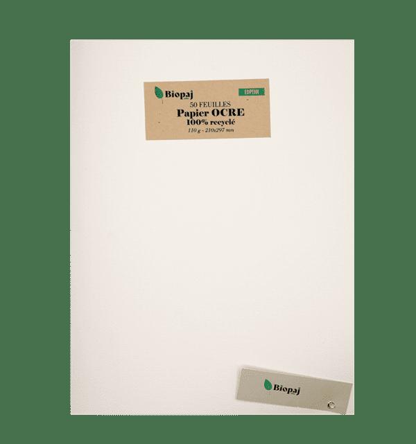 50 feuilles - papier Ocre - 110g - Ivoire