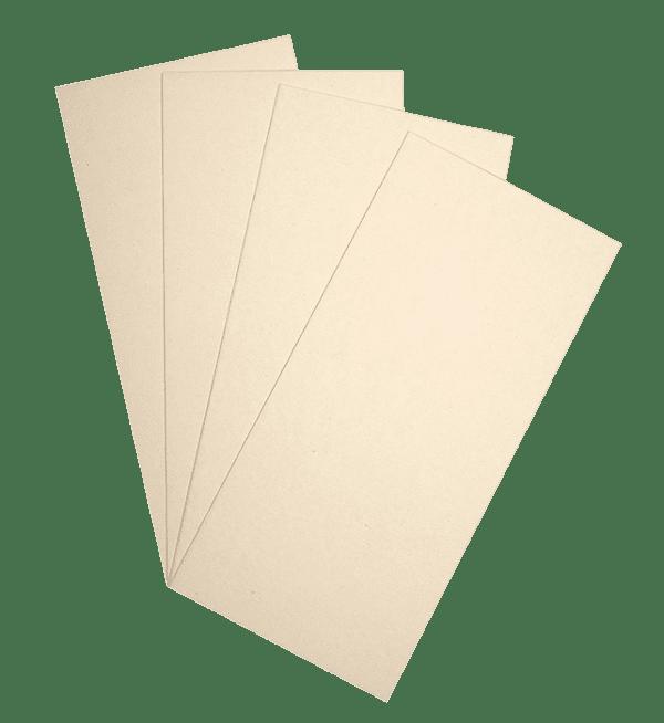 50 cartes de correspondance 210x99 ocre (ivoire)