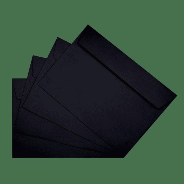 50 enveloppes noires 162 x 229 mm