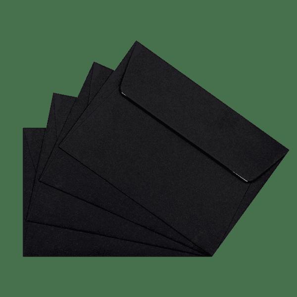 50 enveloppes noires 114 x 162 mm
